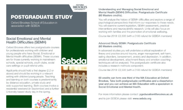 The Socialemotional Component Of >> Accredited Master S Course Sebda Social Emotional Behavioural